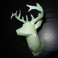 Small Faceted Deer Head 3D Printing 22547