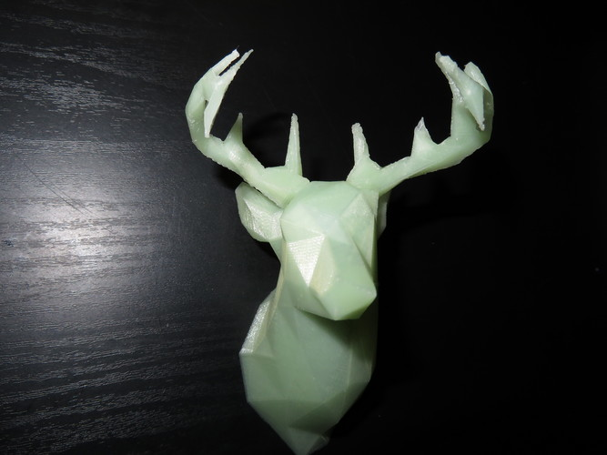 Faceted Deer Head 3D Print 22549