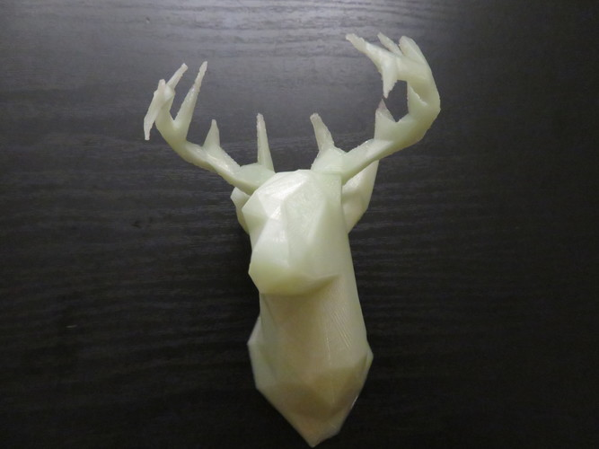 Faceted Deer Head 3D Print 22551