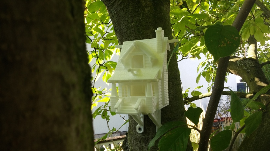 the American Craftsman Bungalow Birdhouse 3D Print 2264