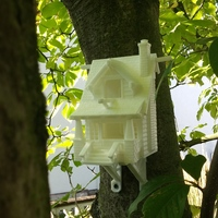 Small the American Craftsman Bungalow Birdhouse 3D Printing 2264