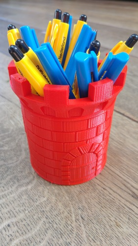CASTLE PEN HOLDER 3D Print 22738