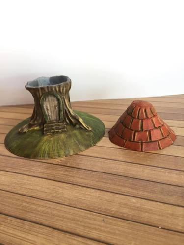 Tree stump house 3D Print 22794