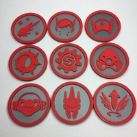 Small Overwatch tokens 3D Printing 22840