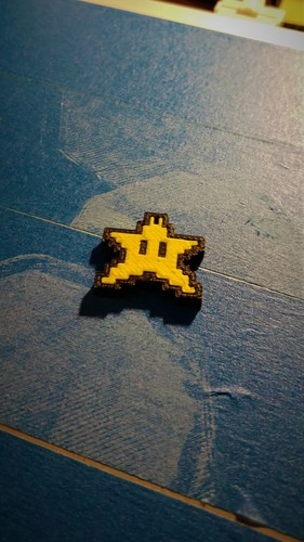 Star Keychain - Super Mario World - (Dual Extrusion) 3D Print 23034