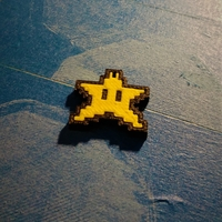 Small Star Keychain - Super Mario World - (Dual Extrusion) 3D Printing 23034