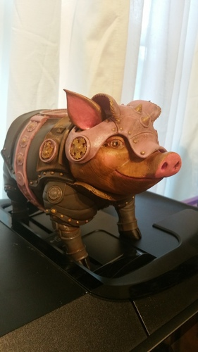 Sir Pigglesby (a most noble piggy bank) 3D Print 23089