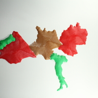Small Mapa 3D, Paises Europa 3D Printing 23261