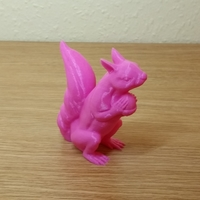 Small Squizzle! A No Supports Squirrel Sculpt  3D Printing 23303