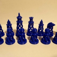 Small Spiral Chess Set (Large) 3D Printing 23382