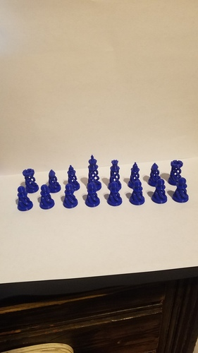 Spiral Chess Set (Large) 3D Print 23383