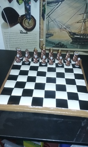 Spiral Chess Set (Large) 3D Print 23429
