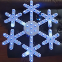 Small Snowflake to use with pixel LEDs 3D Printing 23449