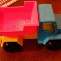 Small Toy Dump Truck 3D Printing 2348