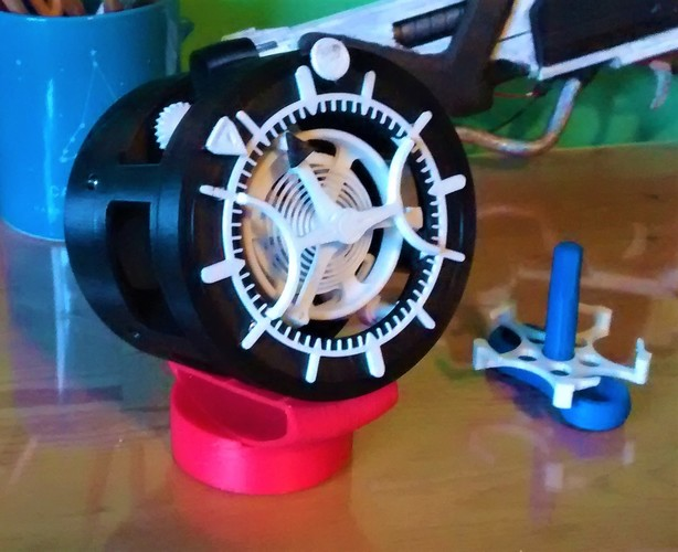 3D-printed Watch with Tourbillon 3D Print 23525