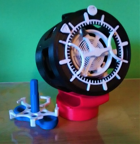 3D-printed Watch with Tourbillon 3D Print 23527