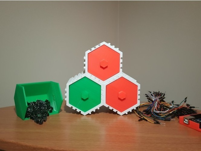 The HIVE - Stackable Hex Drawers 3D Print 23561
