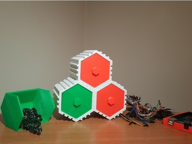 The HIVE - Stackable Hex Drawers 3D Print 23562