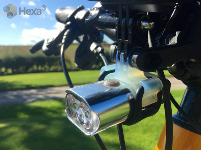 Go Pro Style Mount for Bike Light 3D Print 23571