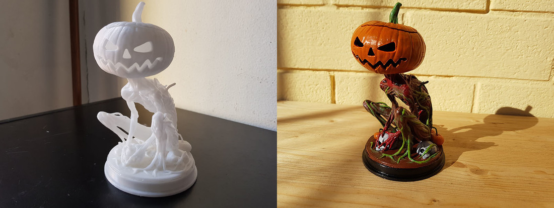 Pumpkin Monster 3D Print 23583