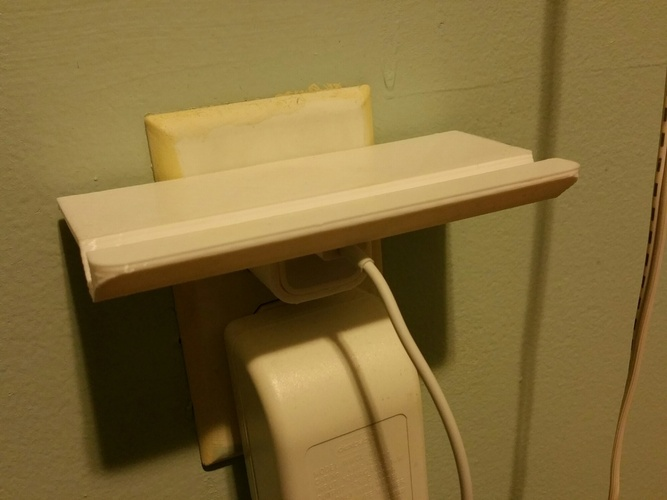 Wall Outlet Shelf  3D Print 2360