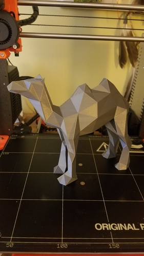 Low-Poly Camel 3D Print 23600