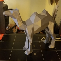 Small Low-Poly Camel 3D Printing 23600