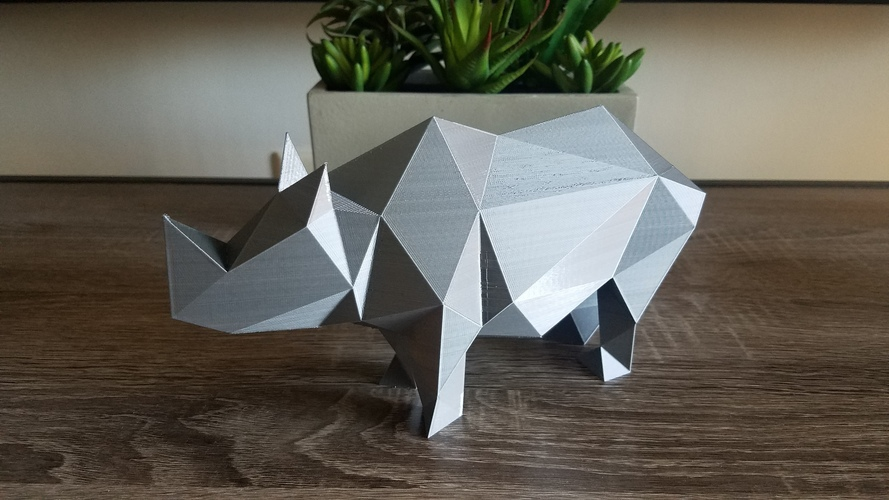 Low-Poly Rhino 3D Print 23625