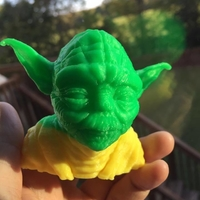 Small Yoda with Chin Support 3D Printing 23631