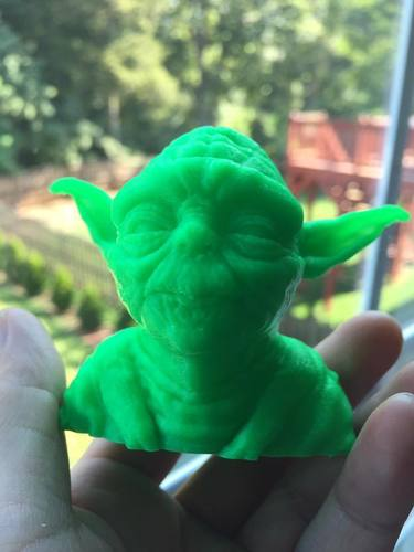Yoda with Chin Support 3D Print 23635