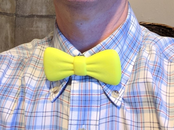 Bowtie ( clips on to button ) 3D Print 23640