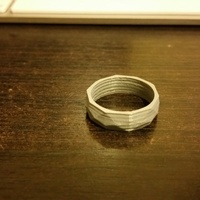 Small Low poly ring  3D Printing 2365