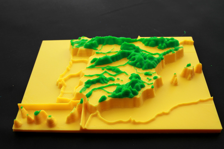 map 3d mountain ranges, spain 3D Print 23738