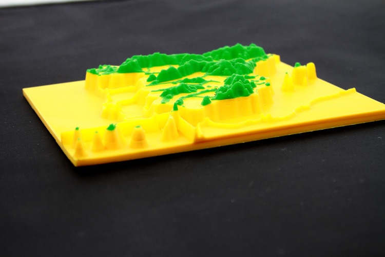 map 3d mountain ranges, spain 3D Print 23741