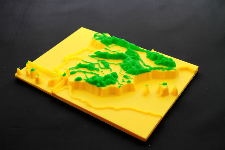 map 3d mountain ranges, spain 3D Print 23742