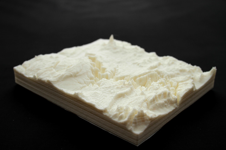 Cañon Colorado, EEUU Colorado map 3D 3D Print 23757