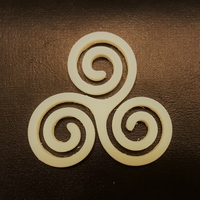 Small Triskelion (Triskele) 3D Printing 23770