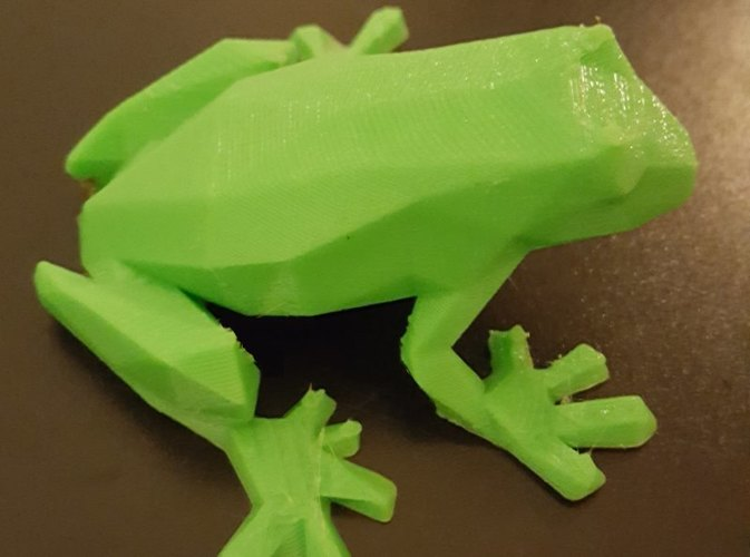 Low-Poly Frog 3D Print 23791