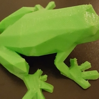 Small Low-Poly Frog 3D Printing 23791
