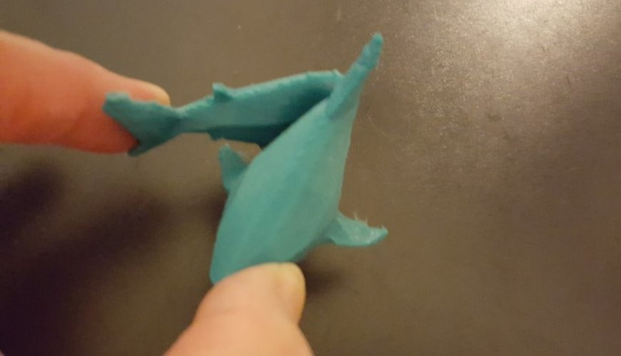 Low-Poly Shark 3D Print 23793
