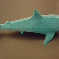 Small Low-Poly Shark 3D Printing 23794
