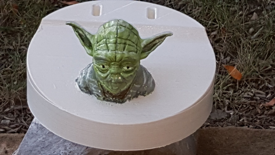 Yoda - Star Wars Headphone Stand 3D Print 23800