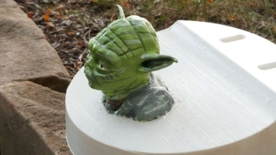 Yoda - Star Wars Headphone Stand 3D Print 23802
