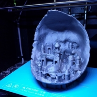 Small Moon city 3D Printing 23815