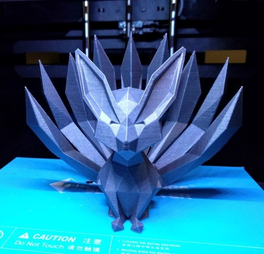 Low-poly Nine-tailed Fox 3D Print 23844