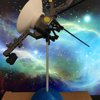 Small Voyager Satellite Desktop Model 3D Printing 23952