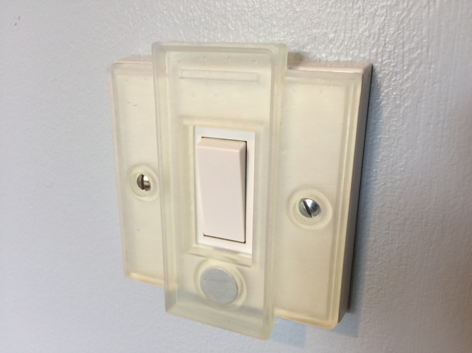 Hue UK Switch Plate Cover 3D Print 24003