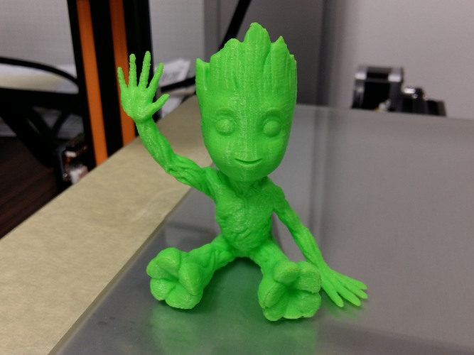 baby groot sitting waving 3D Print 24038