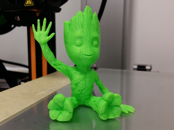 baby groot sitting waving 3D Print 24040