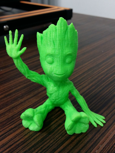 baby groot sitting waving 3D Print 24041